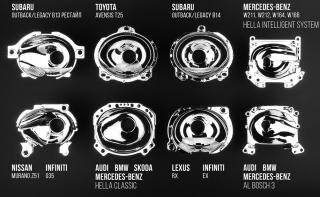 Восстановленные отражатели для линз Mercedes Benz W211, W212, W164, X164,